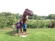 We loved this out-of-the-way shop called Ginger Blossom. This metal t-rex sculpture was a big hit.