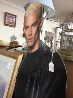 "We went to an antique store where I was amused to see this Spike cut out. The tag on him reads, ""no way for sale."""