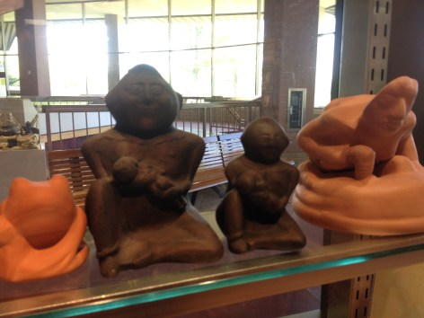 Reproduction sculptures in the gift shop.