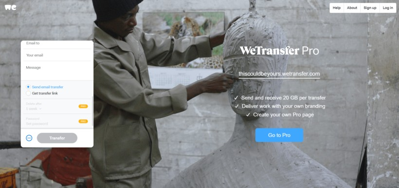 WeTransfer Email or Link