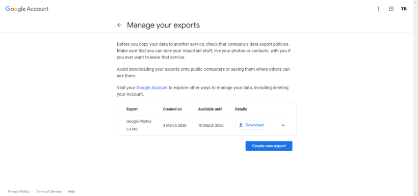 Download All Photos from Google Photos