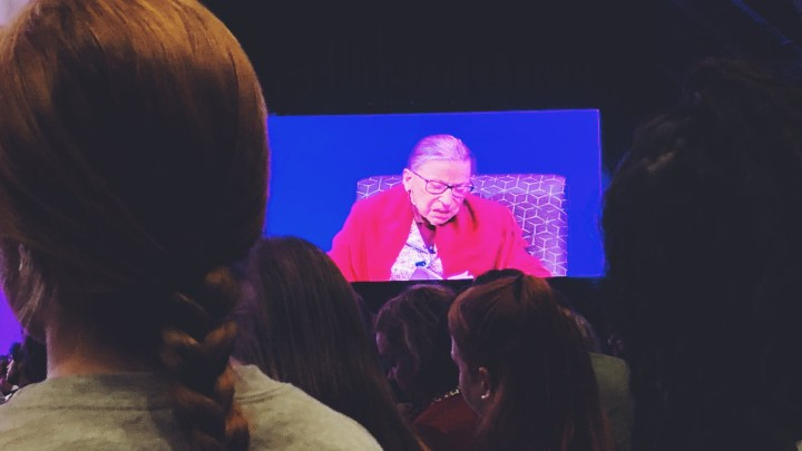Seeing Supreme Court Justice Ruth Bader Ginsburg!