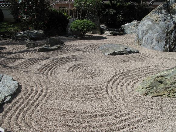 japanese zen garden pattern, Minimal geometric pattern inspired by Japanese zen garden