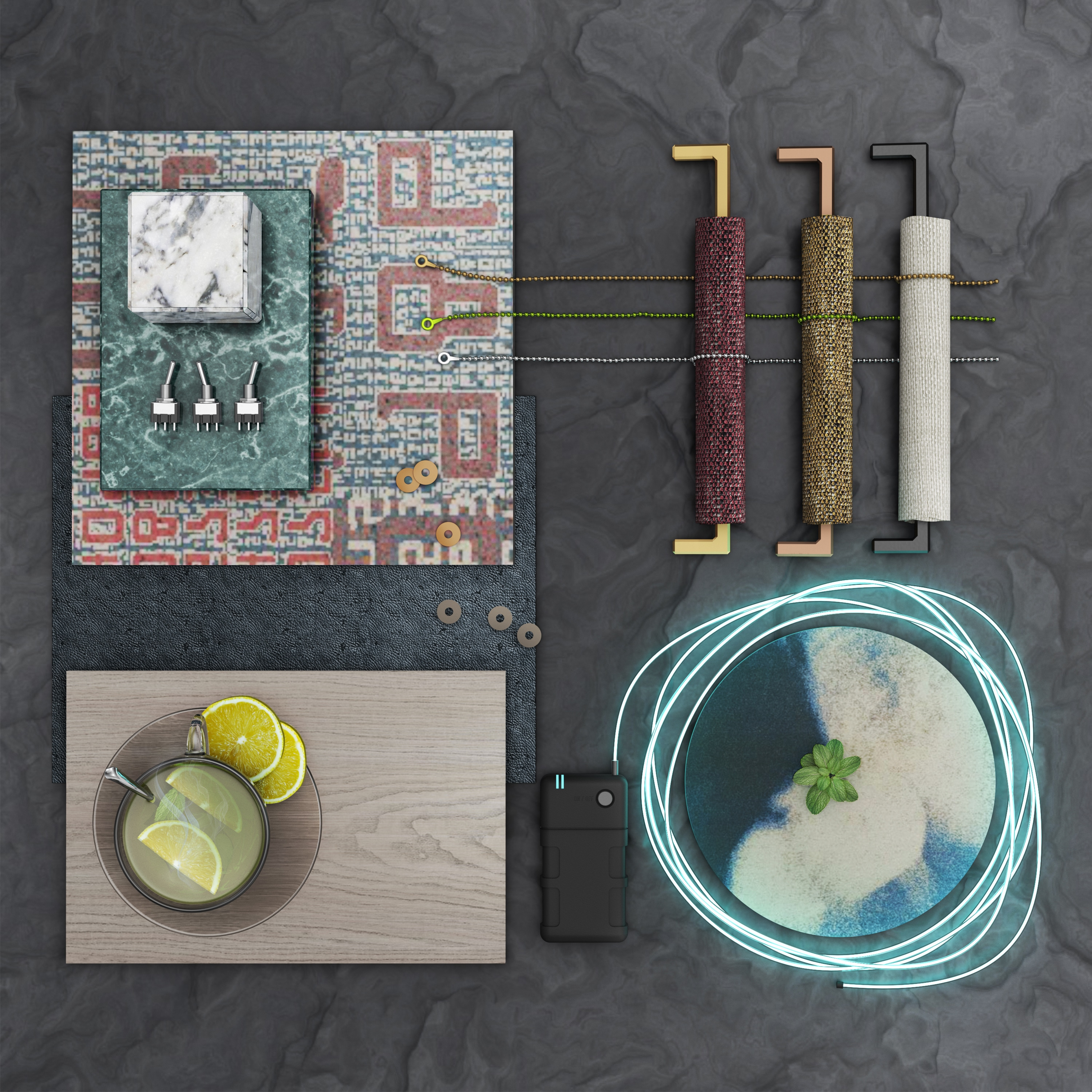 Ege Carpets tech mood board