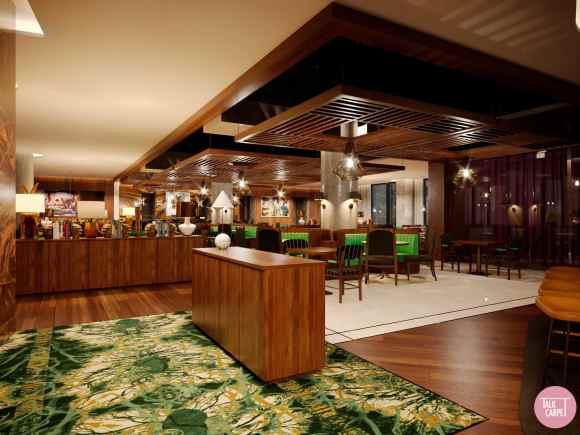 Restaurant custom carpet