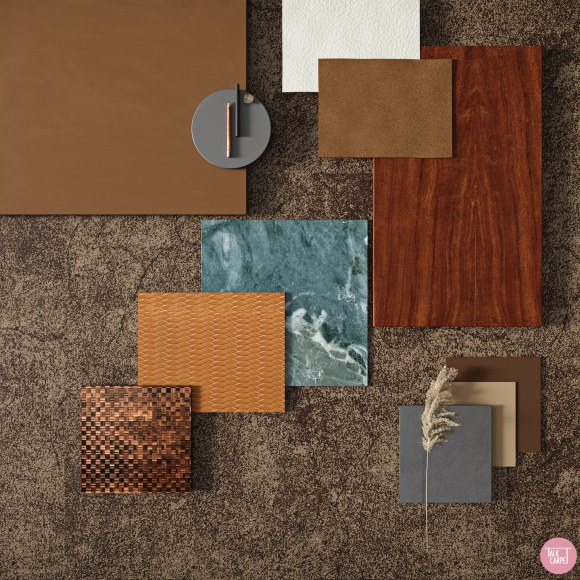lush materials board, Material board inspired by Poltrona Frau x Range Rover collab