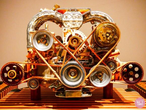 Vandalorum Renzo Piano, Engines made from decorative finishes at Renzo Piano designed museum