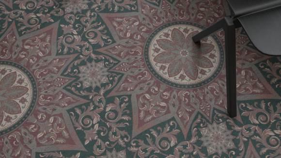 Classic carpet design, Classic carpet design reimagined as a minimal pattern