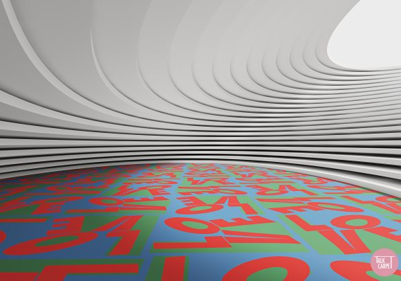 , This LOVE patterned carpet is exactly what we need this Holiday season