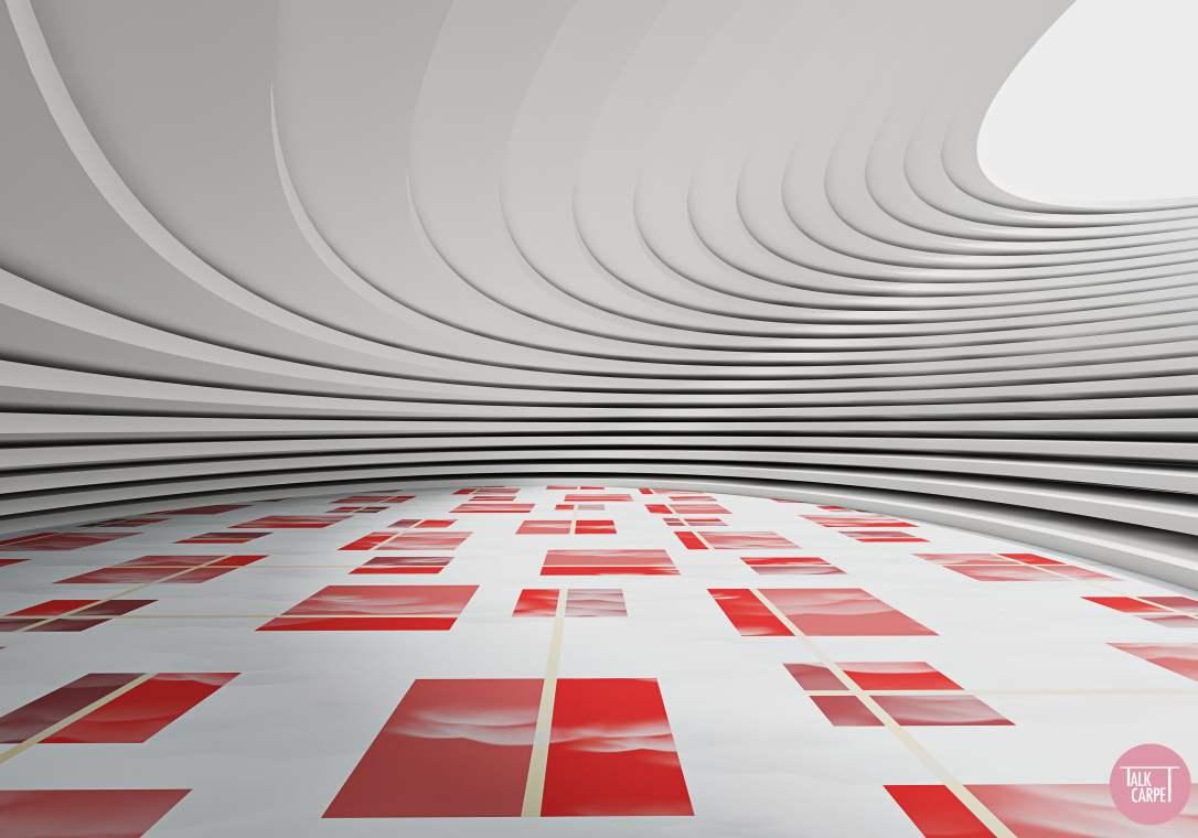Talk Carpet Izak Zenou for Estee Lauder pattern Visualized