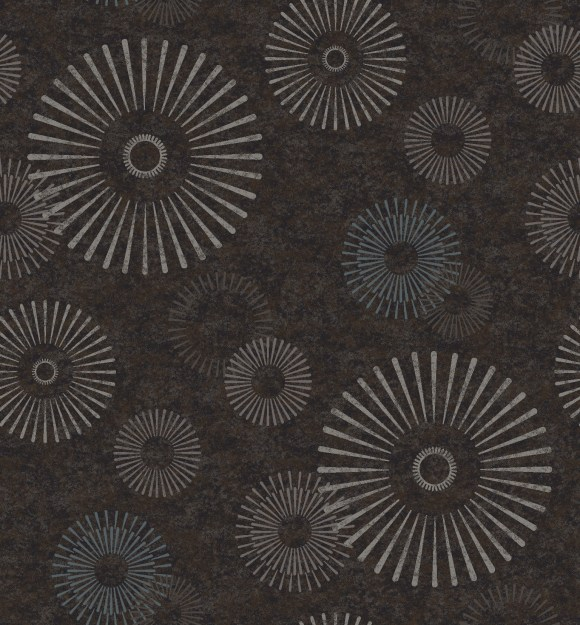 abstract flower brown