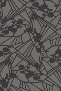 flower mosaic  grey
