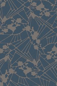 flower mosaic d.blue