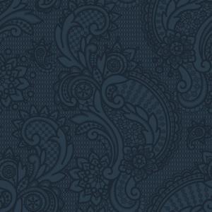 paisley lace blue