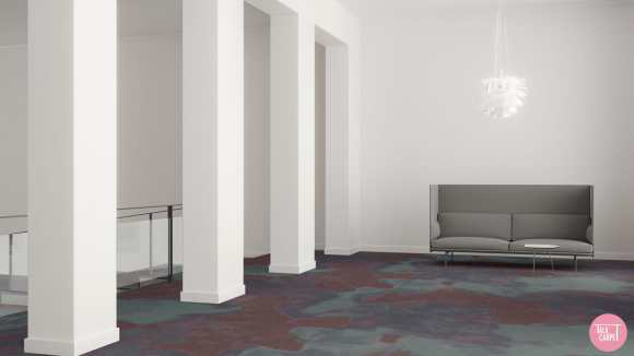 watercolor carpet, Material palette and watercolor carpet inspired by India's Blue City