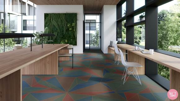 colorful carpet, Colorful carpet sets the mood for palette inspired by Presence in Hormuz