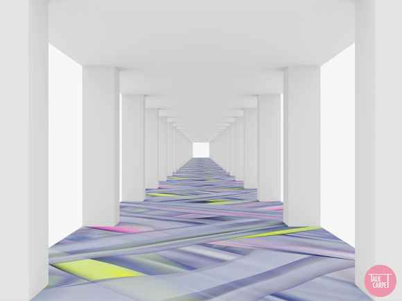 fluorescent carpet, Make a space feel like a party with this Balmain inspired fluorescent carpet
