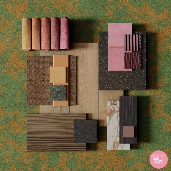 Interior material palette, Interior material palette inspired by the Rodarte SS21 collection