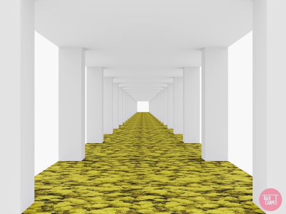 moss carpet, Moss carpet inspired by the runway during the Raf Simons' Prada debut