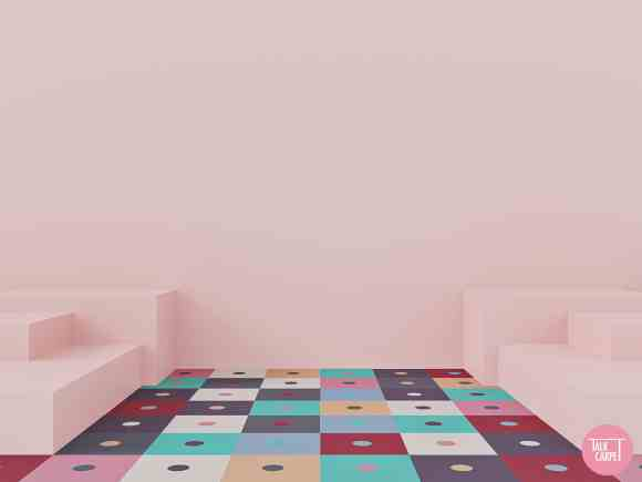 color block carpet, Color block carpet inspired by a Guatemalan shop window