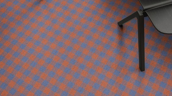 red and blue plaid carpet, Our red and blue plaid carpet design featured in this Guatemalan palette