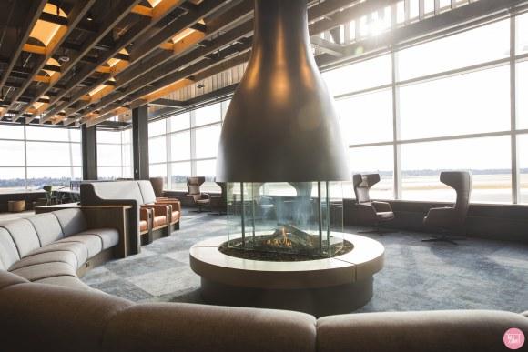 flat weave carpet, Rawline Scala flat weave carpet at the SeaTac Alaska Airlines lounge