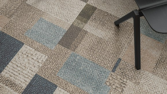 blue carpet tiles, Blue tones materials palette inspired by a colorful lake setting
