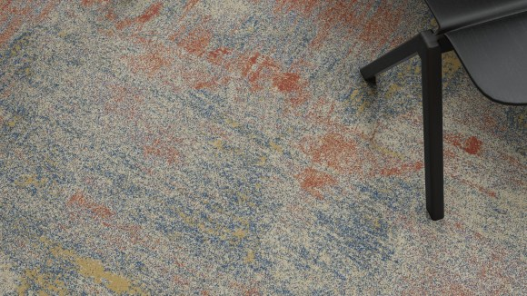 patterned wall to wall carpet, Patterned wall to wall carpet that looks like faded oil paint