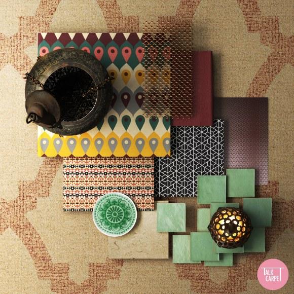 oriental carpet patterns, An evening stroll in the souqs through oriental carpet patterns