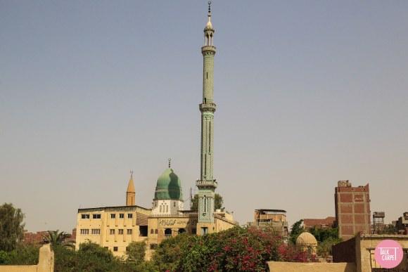 Herringbone carpet, Herringbone carpet in emerald green as seen on Cairo minaret