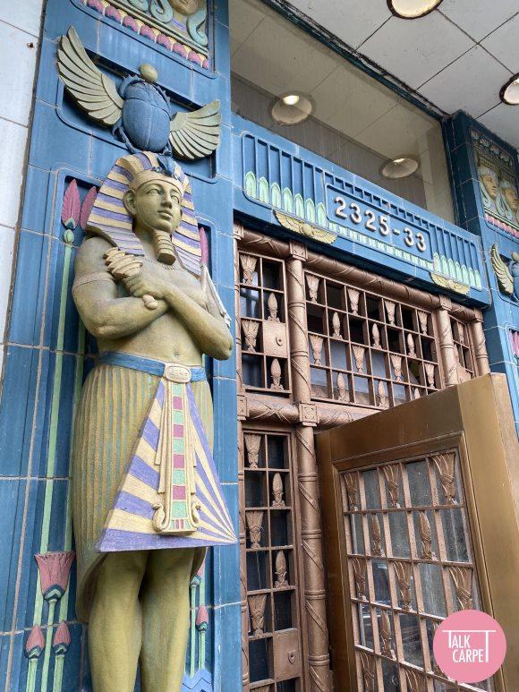 reebie storage warehouse, Palette bridging Chicago's Reebie Storage Warehouse and ancient Egypt