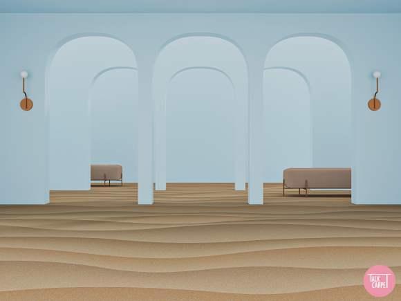 sand carpet, Sand carpet brings the Egyptian Fayoum desert to the floor