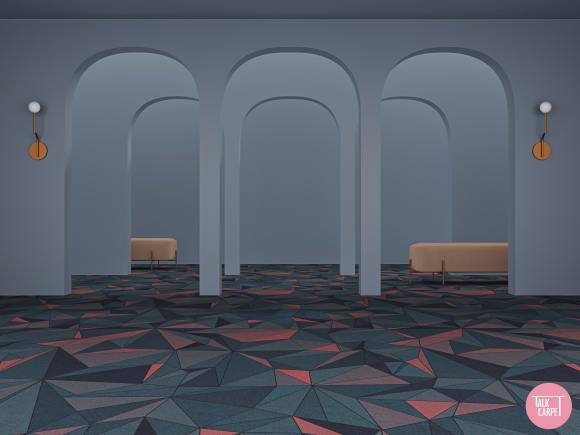 80s Carpet, 80s materials palette with a distinct Studio 54 flair and styled carpet