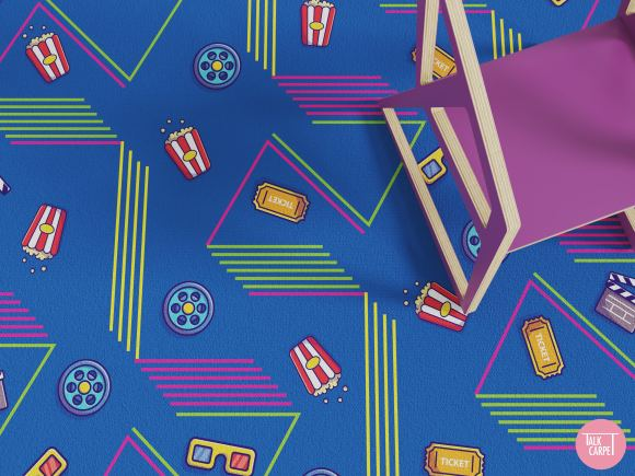 movie theatre carpet, Super fun movie theatre carpet taking you straight to the 80s