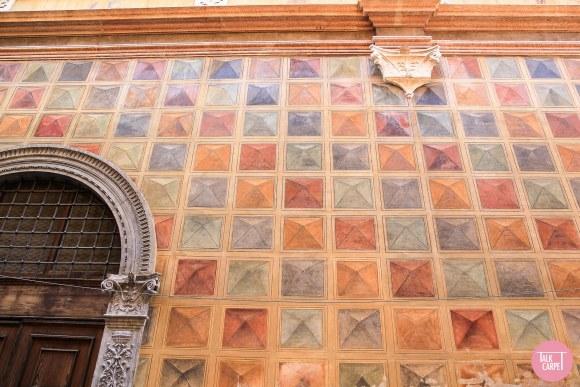 Multi colored carpet, Multi colored carpet based on 15th century mural in Verona