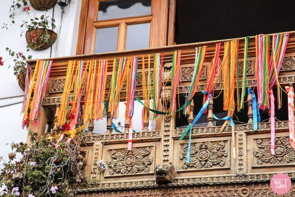 multi colored carpet, Multi colored carpet taken its cues from traditional Andean clothing