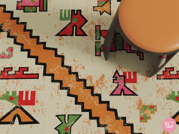 inca pattern, Modern Inca pattern bringing Andean artisan weaving to carpet