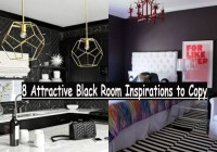 8 Attractive Black Room Inspirations To Copy