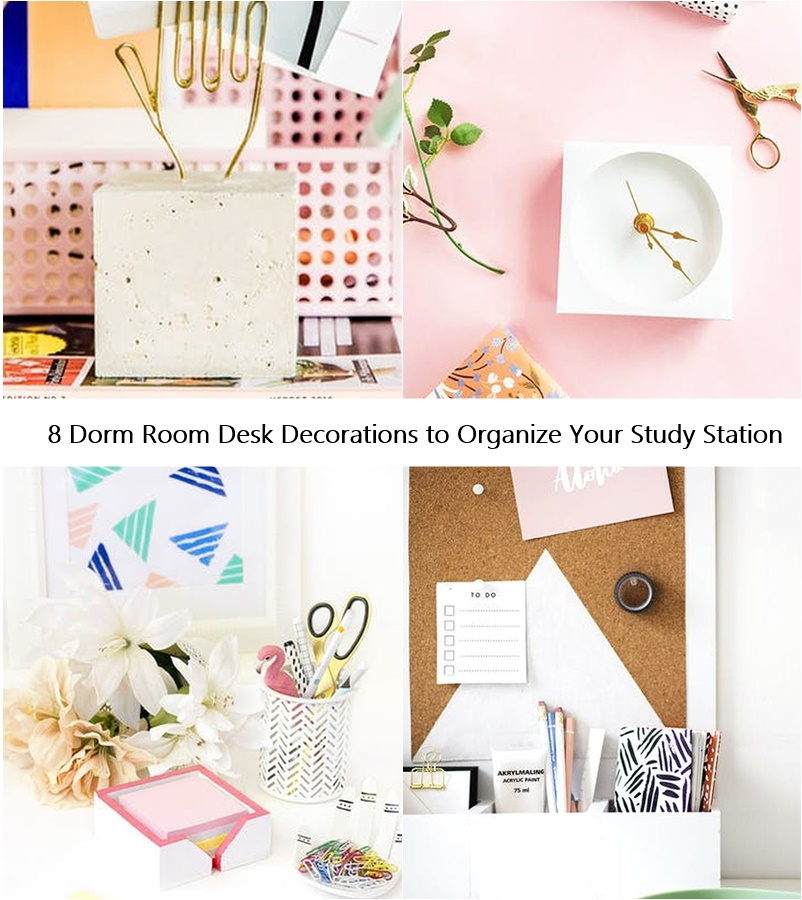 8 Dorm Room Desk Decorations to Organize Your Study Station