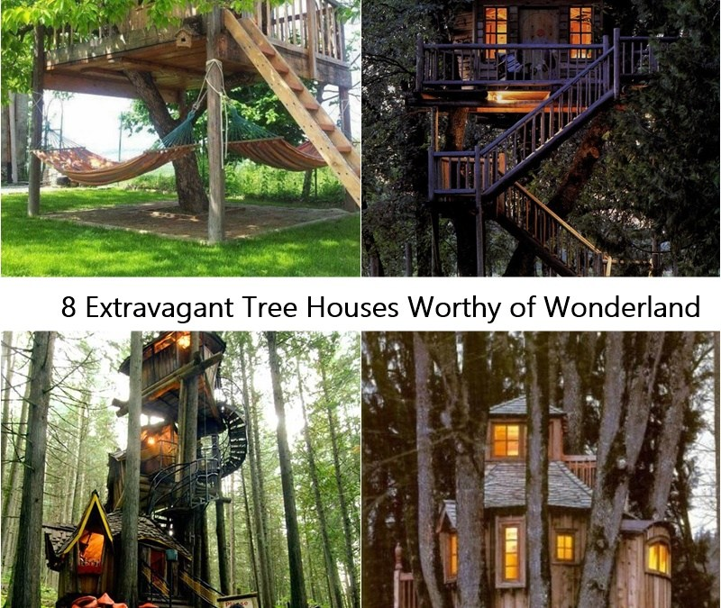 8 Extravagant Tree Houses Worthy of Wonderland