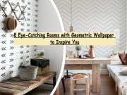 8 Eye Catching Rooms With Geometric Wallpaper To Inspire You
