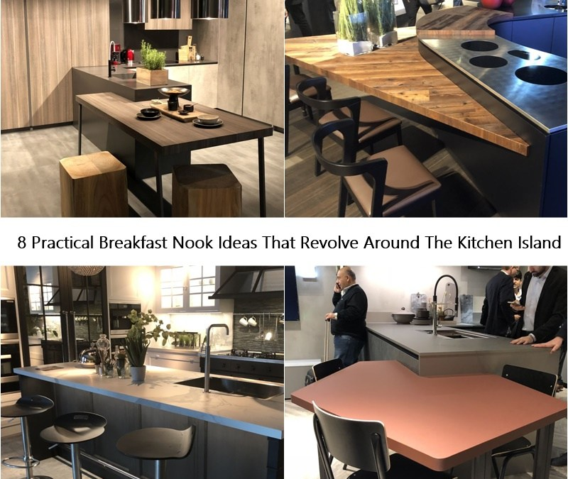 8 Practical Breakfast Nook Ideas That Revolve Around The Kitchen Island