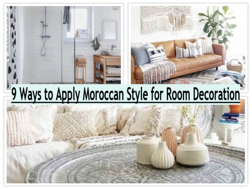 9 Ways To Apply Moroccan Style For Room Decoration