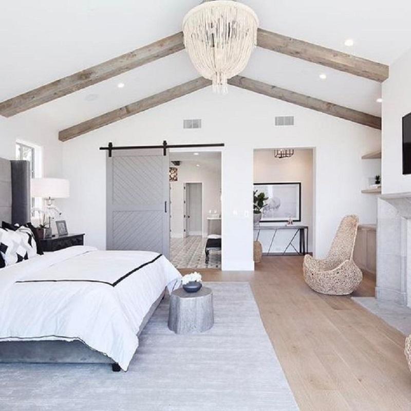 Grey Barn Door Bedroom