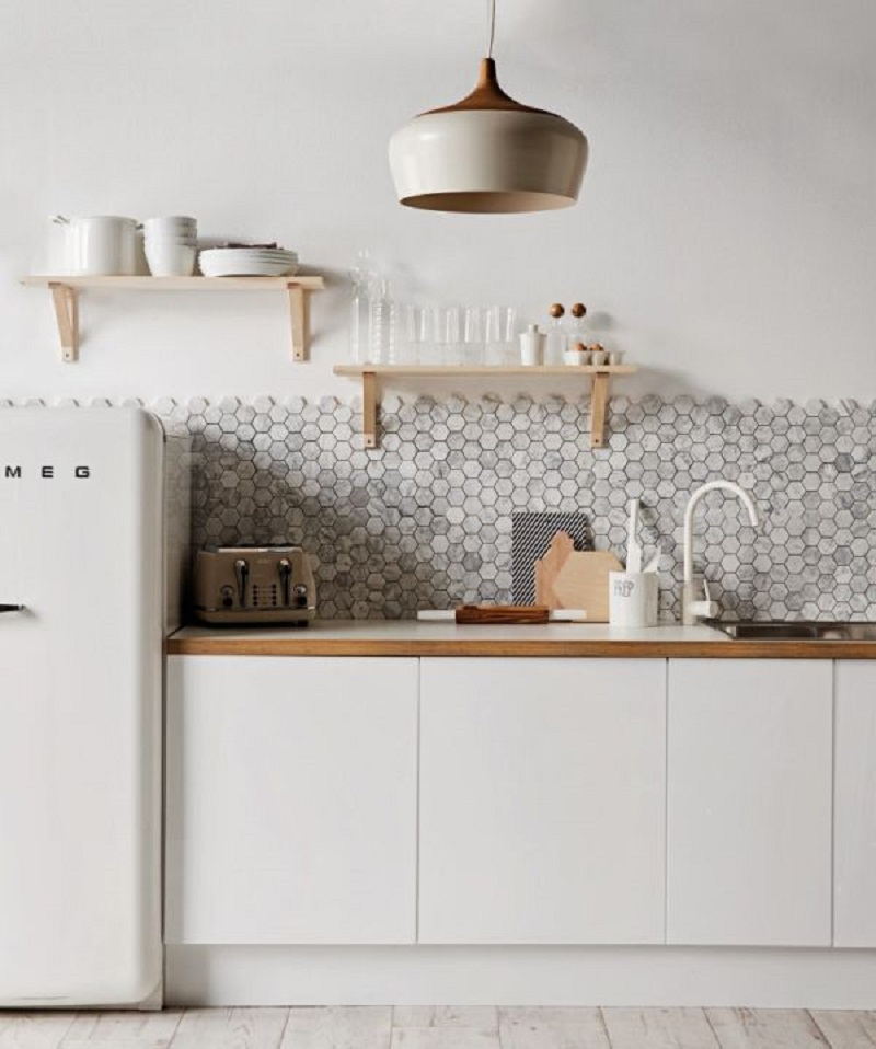 Hexagonal Backsplash