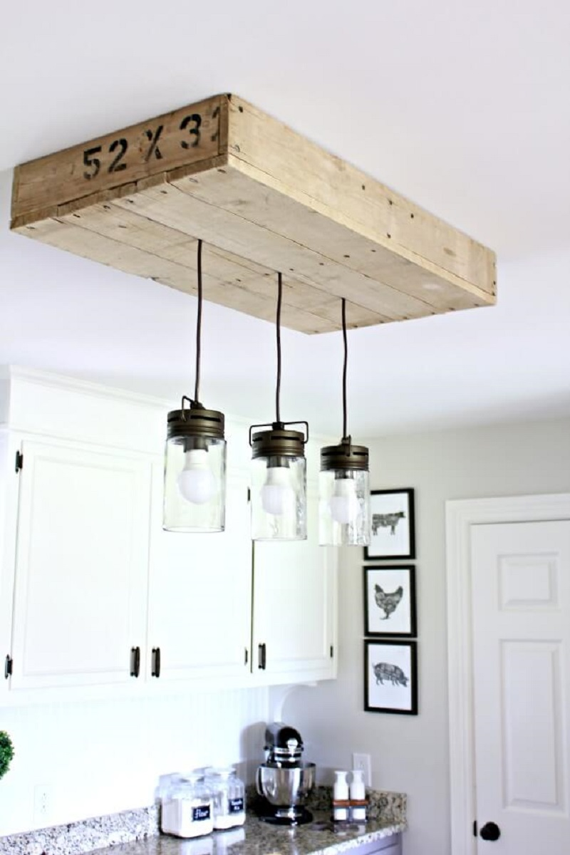 Industrial Themed Hanging Mason Jar