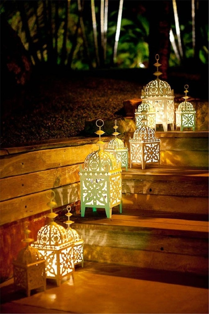 Moroccan Lantern Step Lighting