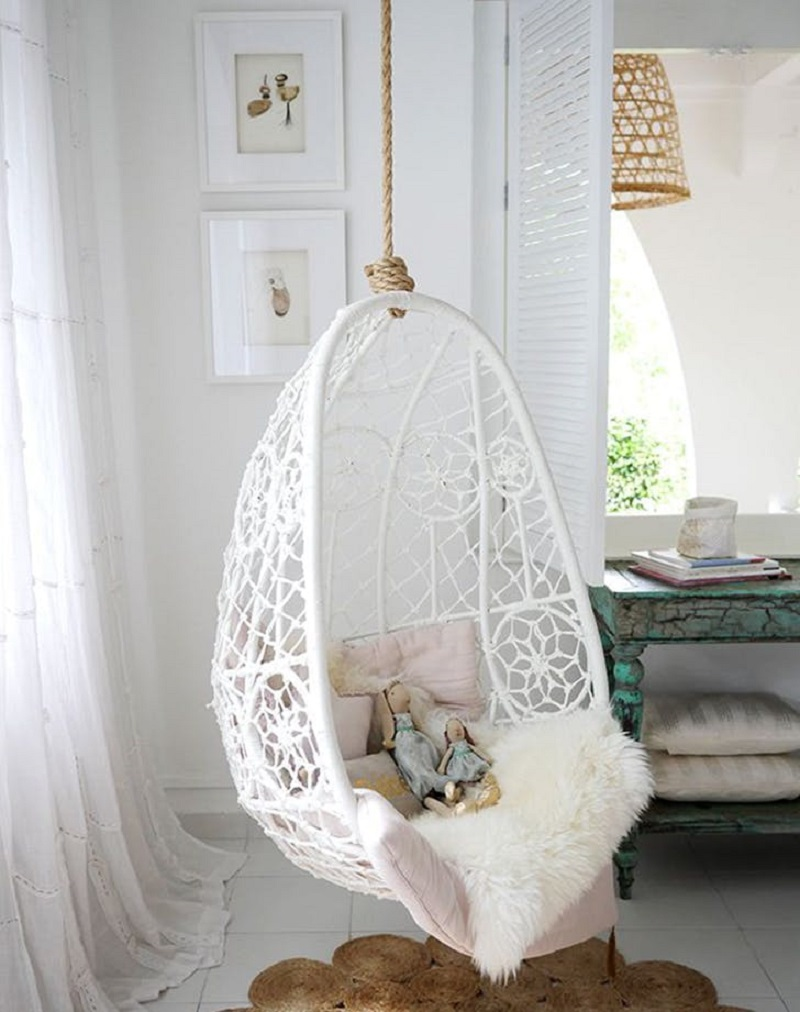 Reading Nook With Hanging Chair