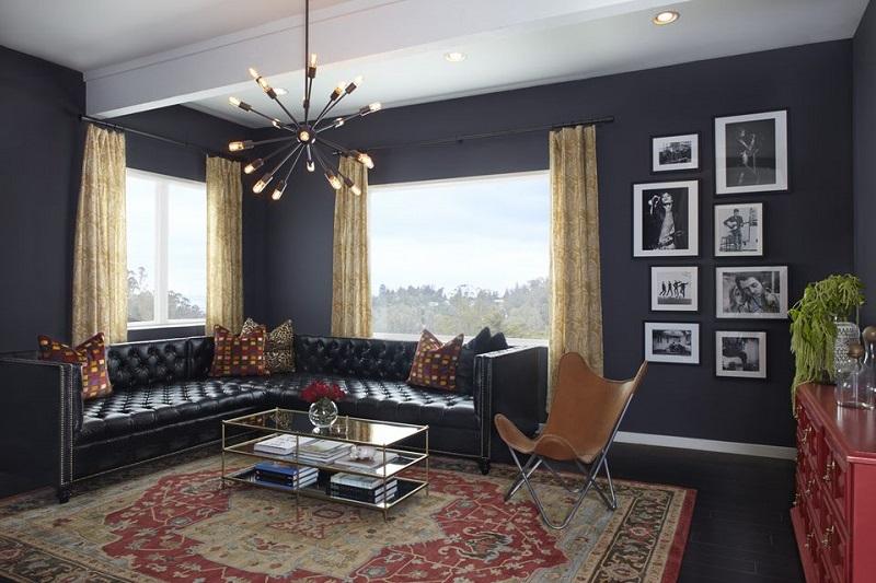 Retro Black Living Room