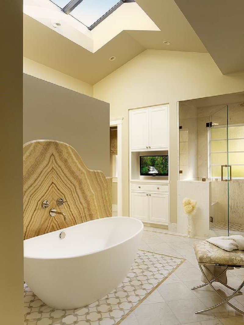 Transitional Bathroom With Onyx